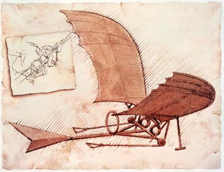 Как Леонардо да Винчи пытался летать?